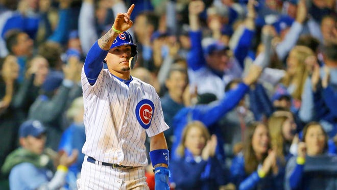 Javier Baez ha three hits, including a decisive home run, in the first two games of the NL Division Series.