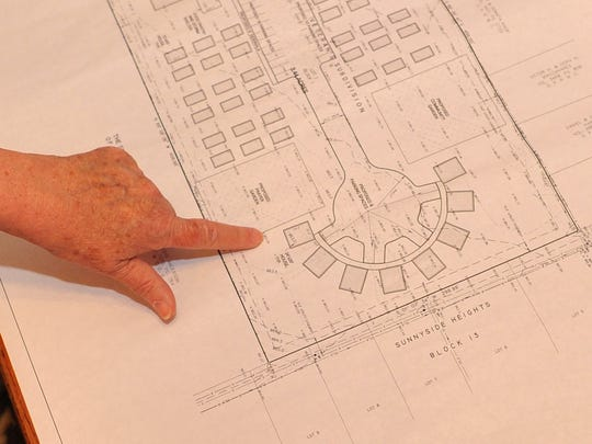 An early look at site plans for Base Camp Lindsey, a homeless veteran housing site to be located on Old Windthorst Road, are seen in this Times Record News file photo.