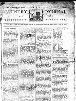 "A cover from the ""Country Journal and the Poughkeepsie Advertiser"""