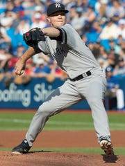 New York Yankees starting pitcher Sonny Gray goes six