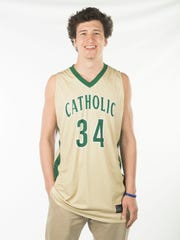 Brock Jancek, Knoxville Catholic basketball. Monday,