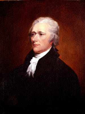 Portrait of Alexander Hamilton (1757-1804) by John Trumbull, after 1804.