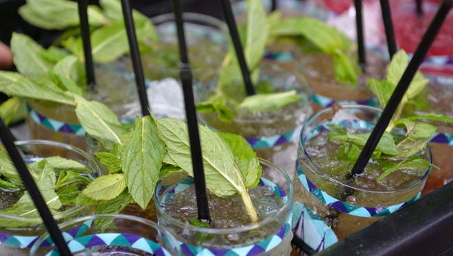 A view of mint juleps before the 141st Kentucky Derby at Churchill Downs.