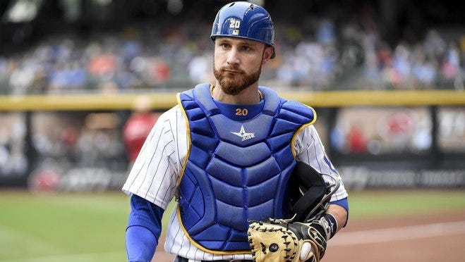 Jonathan Lucroy was in his seventh season with the Milwaukee Brewers.