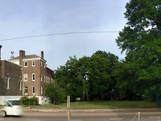 A developer wants to build 25 studio apartments on a relatively small lot in Cooper-Young, between the former Galloway United Methodist Church and Stone Soup Cafe.