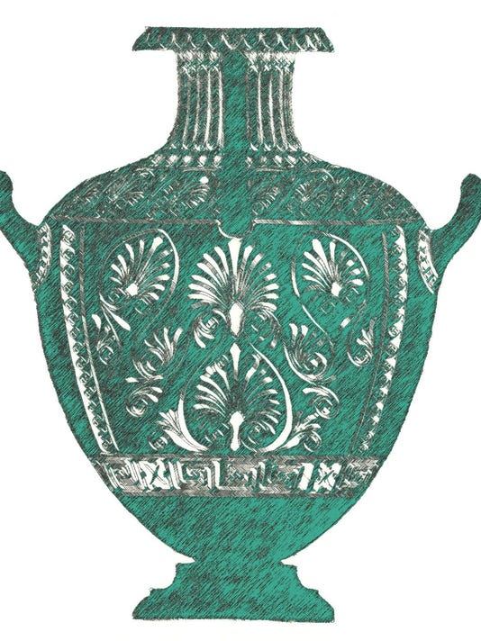 Classical greek style urn or vase