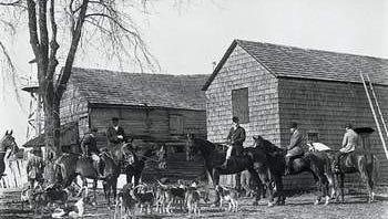 Haskell Farm hunt circa 1900; Dorn's Classic Images