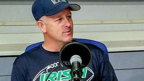 Notre Dame football coach Pat Armstrong.