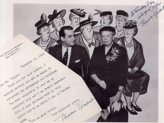 "Cartoonist Franklin Folger met ""The Girls"" fan Eleanor"
