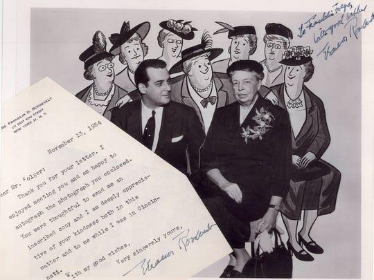 "Cartoonist Franklin Folger met ""The Girls"" fan Eleanor"