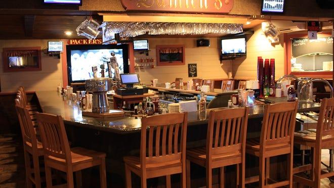 The bar area inside Damien's in Hanson.