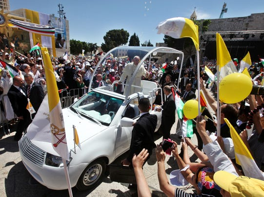EPA epaselect MIDEAST WEST BANK POPE FRANCIS VISIT