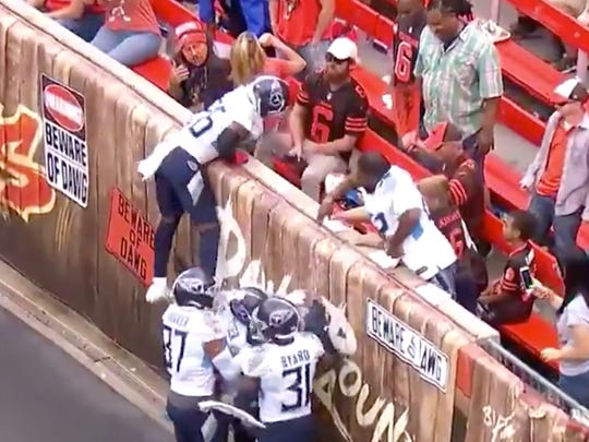 A Cleveland DJ claims he was misidentified as a Browns fan who threw beer at the Titans' Logan Ryan.