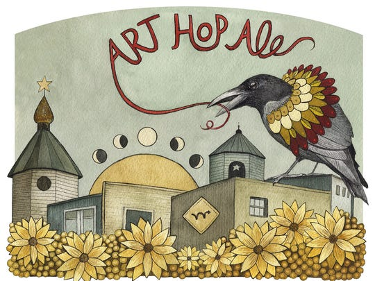 "Vermont artist Jess Polanshek won Magic Hat's ""Labels"