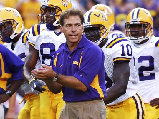 LSU coach Nick Saban in 2004.