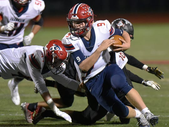 Franklin quarterback Jacob Kelbert was selected to the All-KLAA Gold Division team.