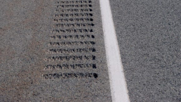 Rumble strips like these can help keep a drowsy driver