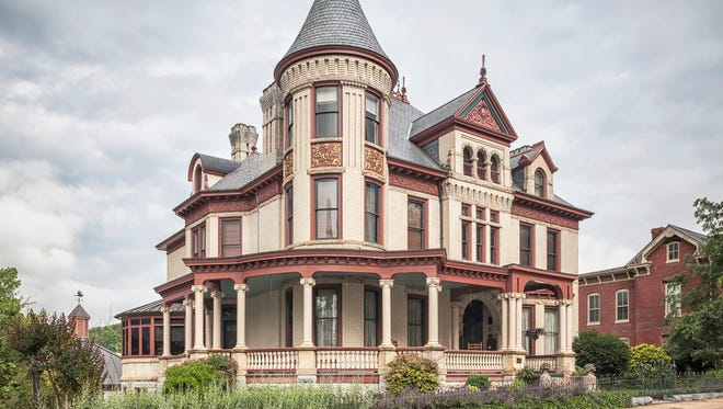 Photograph of the Miller House Bed & Breakfast in Staunton taken by Bill Christ, great-grandson of T.J. Collins. Christ's photography is part of the Hello Spring Show exhibit at The Artisans Loft.