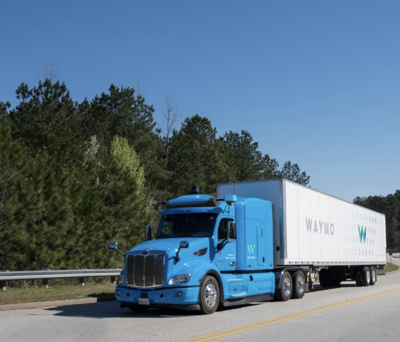 Waymo, the name of Google's self driving vehicle company, is now testing autonomous trucks in Atlanta.