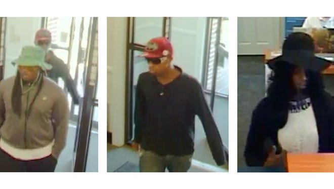 Police said these three suspects robbed a PNC Bank in Pocomoke City on Sept. 26, 2016 and later shot at a Accomack County Sheriff's deputy.