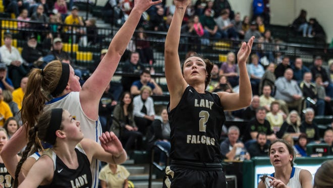 Winchester and Lincoln high schools faced off in the IHSAA Division 2A Northeastern sectional championship in Fountain City, Ind., on Saturday, Feb. 3, 2018. Winchester won the game, 63-36 to advance to the Speedway Regional.