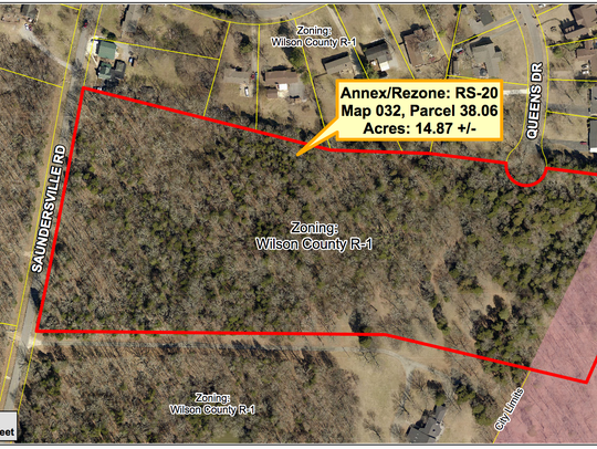 An aerial view of a 12-lot subdivision proposal named