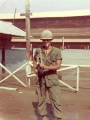 Arthur Brdak in Vietnam 1968 at the main base camp of the 9th Infantry Division, 2nd of the 39th, Dong Tam.