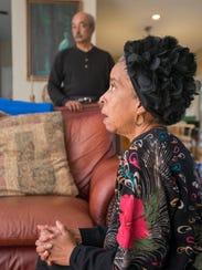 James Richie looks on as his wife, Jawana Jackson,