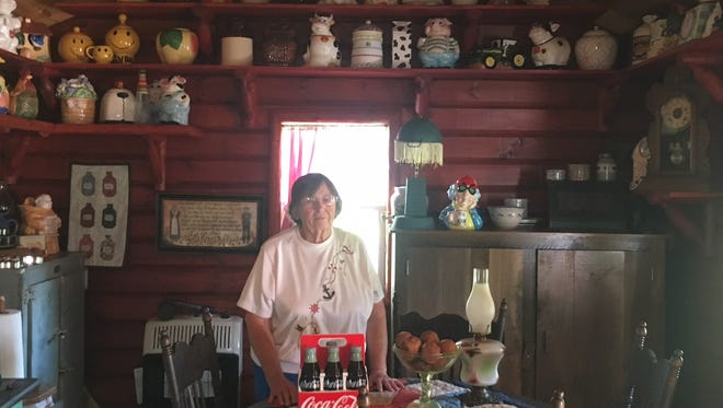 Mary Daily owns a small cabin where she displays her collection of cookie jars. She says she doesn't have any favorites and just enjoys having them around.