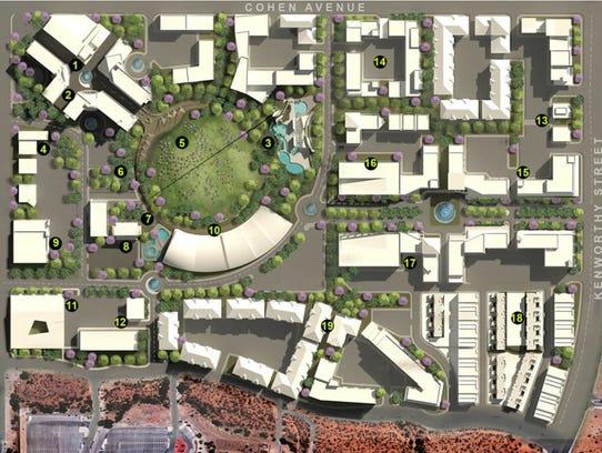 The city development plan for the Cohen Stadium site