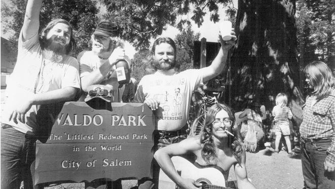 Residents have a party in 1973 at Waldo Park.