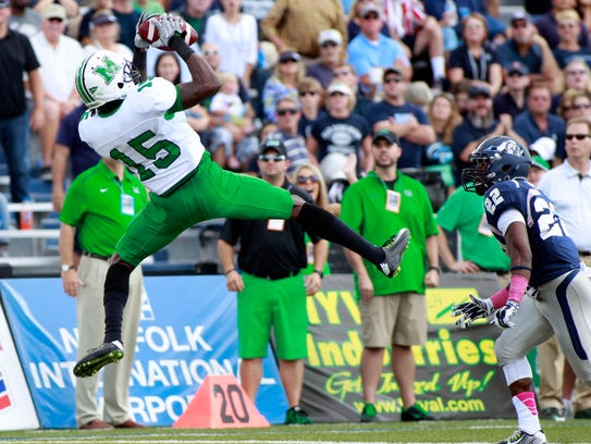 Marshall Thundering Herd wide receiver Angelo Jean-Louis