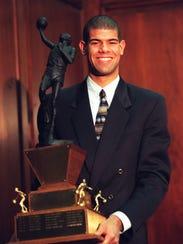 Shane Battier, of Birmingham Detroit Country Day, in 1997.