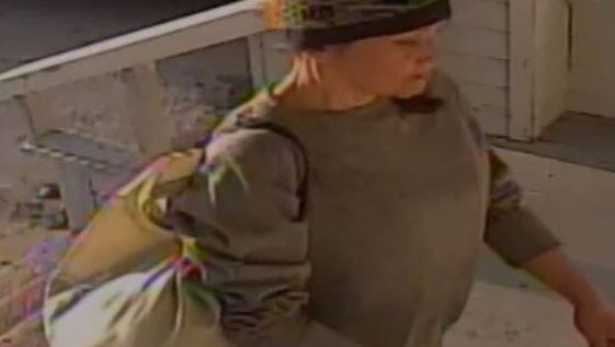 Salinas police are looking for this woman suspected of stealing packages off a porch on March 26.