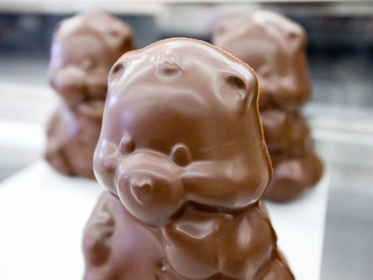 Chocolate bears at Cerreta Candy Company in Glendale