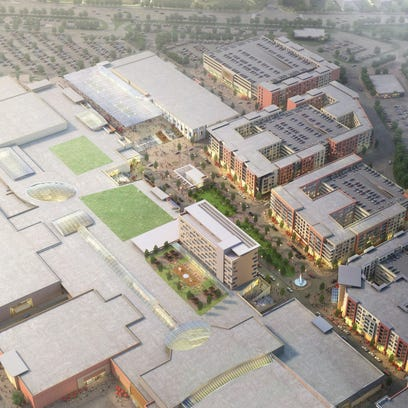 An overview of the  Monmouth Town Center, an overhaul