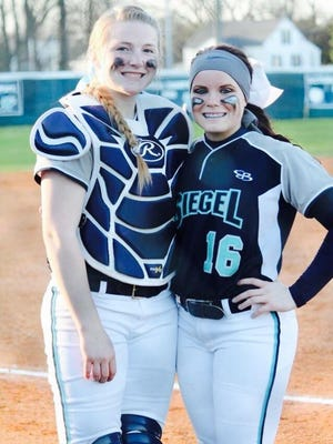 Siegel's KaraLynne Levi, left, and Veronica Westfall signed with Carson-Newman and MTSU respectively.