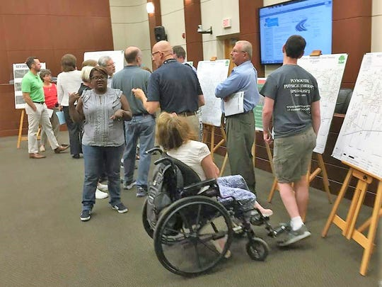 Canton residents had an opportunity to ask questions of engineers and township decision-makers at Wednesday's public forum.