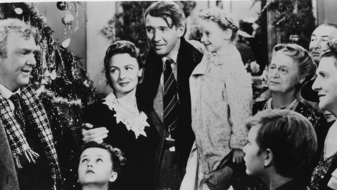 """""""It's A Wonderful Life,"""" starring James Stewart, Donna Reed and Lionel Barrymore."""