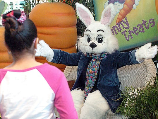 The Easter Bunny will pose for photos 10 a.m. to 9