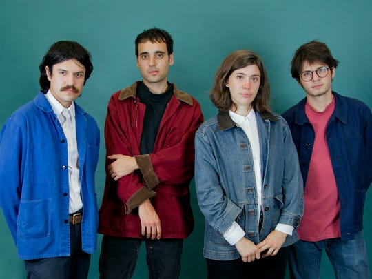 Palm performs on the rotary stage Saturday during the Waking Windows festival in Winooski.