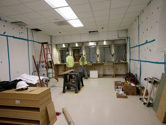 Renovations to the Naval Hospital Bremerton pharmacy will add windows to the facility. Additional pharmacists and technicians are also being hired.