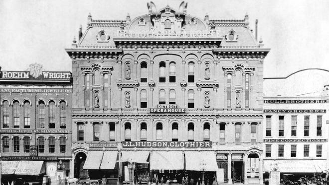 J. L. Hudson's first store opened April 2, 1881, in the old Detroit Opera House, which stood on Campus Martius. Compuware's headquarters is there today.