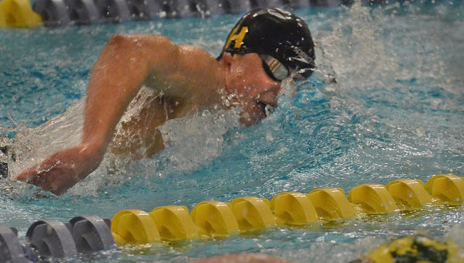 Hartland's Cory Nelligan is in a close race for Livingston Daily's Swimmer of the Year.