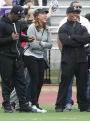 Ray Rice and his wife Janay Rice attend Ramapo and