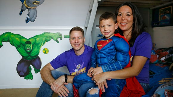 """Jace Hyduchak tells his parents George and Ann how he beat cancer: """"You kick it."""""""