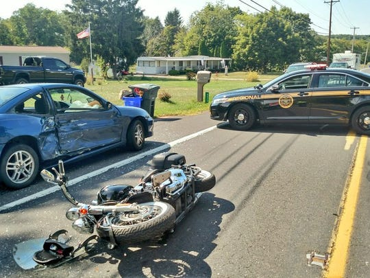 The crash is on Route 74 near Raven Lane, police say.