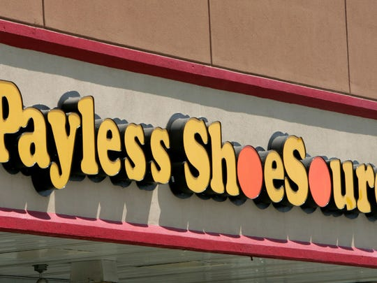 Seven Payless Shoe Source stores in New Jersey are among 400 closing in the wake of the company's bankruptcy filing.