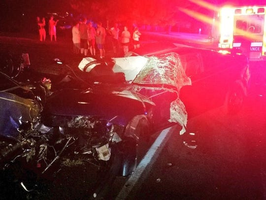 Three-vehicle crash caused two injuries in Paradise