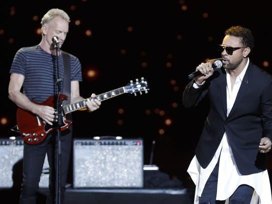 Sting, left, and Shaggy perform during the 33rd Victoires